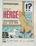 TINTIN : Affiche Exposition TOUT HERGE - Hergé