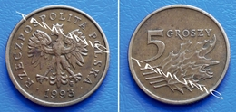 POLAND POLSKA 5 Groszy 1993 - COAT OF ARMS - Polonia