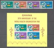 GHANA - 1968 - MNH/** - OMS  - Yv 324-327 BLOC 32 - Lot 17905 - Ghana (1957-...)