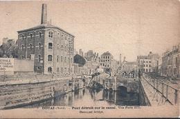 NORD - 59 -  DOUAI - Guerre 14 - Pont Détruit Sur La Canal - Douai