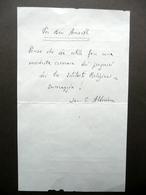 Autografo Beato Giacomo Alberione Biglietto Amorth Istituti Religiosi Anni '60 - Autographes