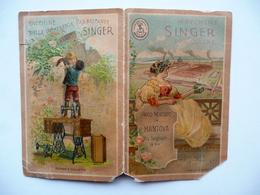 Calendarietto Singer Macchine Per Cucire Negozio In Mantova 1899 Cromolitografie - Calendari