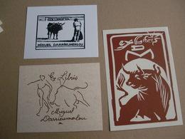 Lot With 7 Ex-libris Exlibris. Torero Toro Tauromaquia - Ex-libris