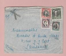 Chile Luftpostbrief Santiago ?.06.1932 Nach Lausanne Transitst. Marseille - Chili