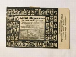 AK  LERNT ESPERANTO DIE WELT HILFS SPRACHE  ESPERANTO PROPAGANDA OFICEJO WÜRTTEMBERG - Esperanto