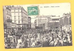 """Carte Postale En Noir & Blanc """" Halles Centrales """" à ROUEN - Rouen"""