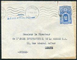 1949-50 Monaco 3 Covers 'Service De S.A.S. Le Prince De Monaco'-  Argus Press Agency, Geneva Switzerland. Diplomatic - Monaco