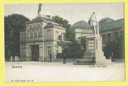 * Antwerpen - Anvers - Antwerp * (E. Nels, Photo Nr 25) Statue Van Dyck, Old, Couleur, Color, Animée, Monument, TOP - Antwerpen