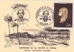 Carte Postale Dax 1978 Landes Centenaire De La Société De De Borda Histoire Archéologie Économie Jean-Charles De Borda - Frankrijk