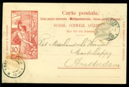 Switserland 1900 (?) From St. Gallen To Amsterdam - Entiers Postaux
