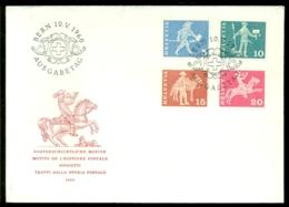Schweiz 1960 FDC Postgeschichtliche Motive Ohne Adresse - FDC