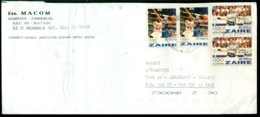 Zaire 1996 Cover To Holland Mi 1128 (2) And 1129 (2) - Zaire