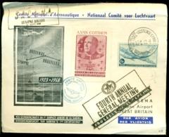 België 1948 Speciale Luchtpostbrief Nationaal Comité Voor Luchtvaart Met OPB PA8 Verbinding Lympne-Oostende-Brussel - Lettres & Documents