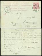 België 1893 Postkaart Van Peer Naar Groningen - Postcards [1871-09]