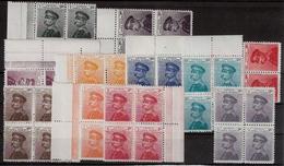 1911, 12 Werte ,kpl. 4er Blocks, Postfrisch! Mi. Für Falz Schon € 400,- ! #a1120 - Serbien