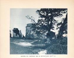 1938 - Héliogravure - Plédéliac (Côtes-d'Armor) - Le Château De La Hunaudaye - FRANCO DE PORT - Non Classés