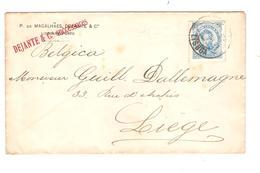 PR6050/ Portugal Cover Dejante & C° Lisboa - Porto C.Lisboa 1891 To Liège Belgium - 1862-1884 : D.Luiz I