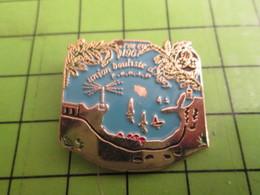 511c Pin's Pins / Beau Et Rare / THEME : SPORTS / PETANQUE UNION BOULISTE D'AGAY CREEE EN 1967 - Bowls - Pétanque