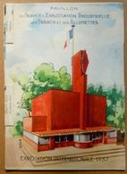 Dépliant à Système Du Pavillon De La SEITA Pour L'Exposition Internationale De 1937 - Tabac (objets Liés)