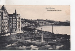Cpa.Espagne.San Sebastian.Hoteles De La Concha - Guipúzcoa (San Sebastián)