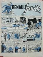 Renault Junior N°15 (avril 1957) BD Premiers Tours De Roue D'un Pneu - - Zonder Classificatie