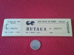 SPAIN. TALONARIO CON 100 ENTRADAS CINE PLAZA DE TOROS ALICANTE. ENTRADA OLD TICKET TICKETS CINEMA BIGLIETTO BIGLIETTI - Tickets - Entradas