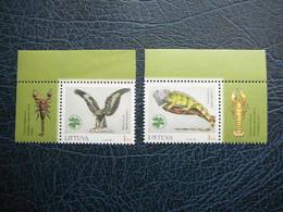 Zoology Museum # Lietuva Litauen Lituanie Litouwen Lithuania # 2004 MNH #Mi. 853/4Zf Birds Reptiles - Lithuania