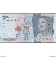 TWN - COLOMBIA 458 - 2000 2.000 Pesos 19.8.2015 Prefix AA UNC - Colombia