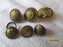 Ethiopie 6 Boutons Uniforme De La Garde Impériale (Kabour Zabagna) - Vente à La Pièce - Buttons