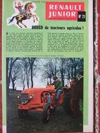 Renault Junior N°21 (Pâques 1958) Rodéo De Tracteurs Agricoles - BD Marc Et Martine - Pisanki De Pologne - Zonder Classificatie