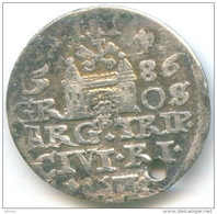Poland 3 Gross /trojak/ 1586 RIGA Sthepan - Polonia