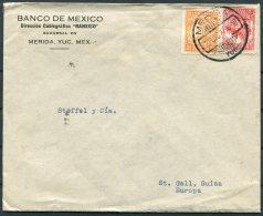 1927 Banco De Mexico, Merida Cover - Stoffel & Co. St Gallen, Switzerland - Mexico