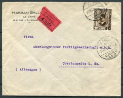 1938 Egypt Cairo Registered Cover - Oberlungwitz Germany - Egypt