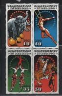 LOT 193 - ALLEMAGNE N° 2606/2609  ** - CIRQUE : ELEPHANTS - TIGRES -  EQUILIBISTES - TRAPEZISTE - Circus