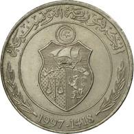 Monnaie, Tunisie, Dinar, 1997, Paris, TB+, Copper-nickel, KM:347 - Tunisia