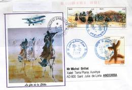 Fête Touareg De La Sebiba 2018, Sur Belle Lettre Adressée Andorra, Avec Timbre à Date Arrivée - Algeria (1962-...)