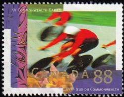 CANADA - Scott #1522 XV Commonwealth Games, Cycling / Used - Cycling