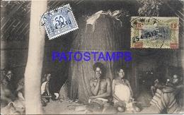 101719 AFRICA CONGO BELGE BELGIUM BELGISCH CONGO BATEKE COSTUMES NATIVE THE VIRTUE OF DEATH POSTAL POSTCARD - Postcards