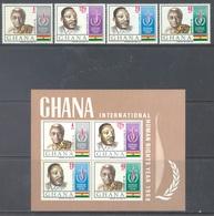 GHANA - 1969 - MNH/** - HUMAN RIGHTS MARTIN LUTHER KING DANQUAH  - Yv 336-339 BLOC 33B - Lot 17908 - Ghana (1957-...)