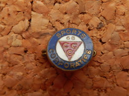 Broche - SPORT CORPORATIF - CCC 68 - HAUT RHIN - Badges