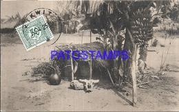 101720 AFRICA CONGO BELGE BELGIUM BELGISCH CONGO JACHT NKISI IN BANAAN BOOM IN BLOEM IN VRUCHT POSTAL POSTCARD - Postcards