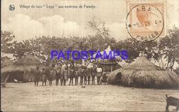 101722 AFRICA CONGO BELGE BELGIUM BELGISCH CONGO COSTUMES VILLAGE RACE LOGO AND SURROUNDINGS OF FARADJE POSTAL POSTCARD - Postcards