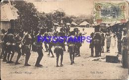 101723 AFRICA CONGO BELGE BELGIUM BELGISCH CONGO COSTUMES NATIVE DANCER MONGO BREAK POSTAL POSTCARD - Postcards