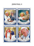 SIERRA LEONE 2018 - John Paul II, Mother Teresa. Official Issue. - Mother Teresa