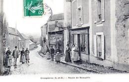 CRESPIERES, Canton De Verneuil Sur Seine - La Route De Neauphle - Très Beau Plan Animé - Verneuil Sur Seine