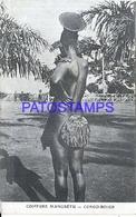 101725 AFRICA CONGO BELGE BELGIUM BELGISCH CONGO COSTUMES NATIVE COIFFURE MANGBETU POSTAL POSTCARD - Postcards