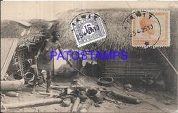 101726 AFRICA CONGO BELGE BELGIUM BELGISCH CONGO COSTUMES NATIVE MANUFACTURING SALT IN BASAKATA POSTAL POSTCARD - Postcards
