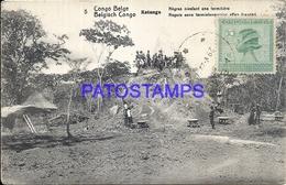 101727 AFRICA CONGO BELGE BELGIUM BELGISCH CONGO KATANGA COSTUMES NATIVE POSTAL POSTCARD - Postcards