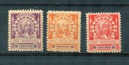 Maroc  Postes Locales  FEZ A  MEKNES   N° 17a 19a  20a  Dent 14  **  MNH - Marokko (1891-1956)