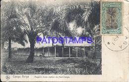 101728 AFRICA CONGO BELGE BELGIUM BELGISCH CONGO STORE OF A STATION OF THE TOP POSTAL POSTCARD - Postcards